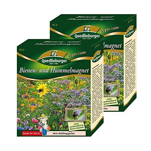 2er Pack   Bienen und Hummelmagnet   Doppelpackung   Wildblumenmischung   Blumenwiese