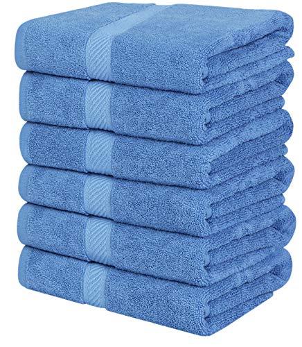 Utopia Towels - 6 Toallas de Gimnasio, Toallas de Piscina (56 x 112 cm) - 500 gsm - Toalla de Secado rápido multipropósito Ligera (Azul Eléctrico)