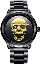 N·XHXL Cool 3D Skull Horloge voor Mannen, Waterdic...