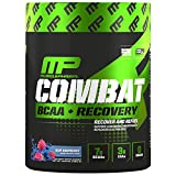 MusclePharm Combat BCAA + Recovery, BCAA 10 Grams, Electrolytes, Post-Workout Recovery, BCAA Post-Workout Powder, Enhanced Recovery, Pre-Workout Formula, Blue Raspberry, 30 Servings, 16.9 oz
