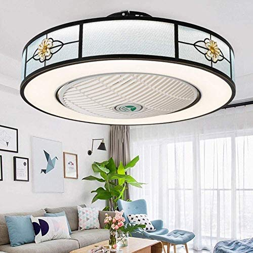 BBZZ Moroccan Style Ceiling Fan with Lighting,Luxurious LED Ceiling Lamp,Three-Color Dimming LED Chandelier,Adjustable Speeds Wind,Restaurant Ventilator Lamp,Kitchen Fan Light