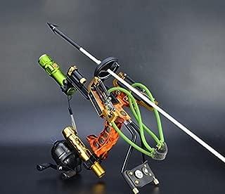 HBG Fishing Slingshot Kit Archery Slingbow Hunting Fish Folding Professional Adjustable Shooting with 6Pcs Fishing Arrows