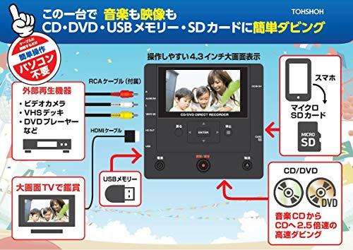 『とうしょう メディア レコーダー 録画・録音かんたん録右ェ門 CD/DVDダビング DMR-0720』の3枚目の画像