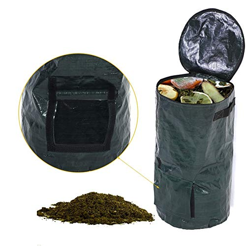 Best Review Of Daxin Collapsible Compost Bin Yard Waste Bag Composting Fruit Kitchen Waste Fermentat...