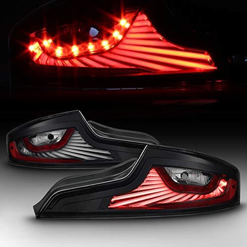 ACANII - For NEW Design Black LED Tail Lights Brake Lamps 2003 2004 2005 G35 35GT Coupe