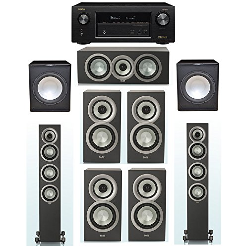 Great Price! ELAC Uni-Fi Slim Black 7.2 System with 2 ELAC FS-U5 Floorstanding Speakers, 1 ELAC CC-U...
