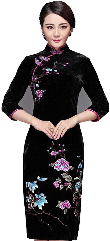 Bonnie clothing Women's Black Half Sleeve Elegant Vintage Prom Dresses