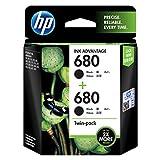 HP 680 Black Ink Cartridges Twin Pack