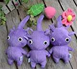 paopaowu in Hand Game Plush Toy ~ Pikmin~ Flower Bud Leaf Yellow/Purple/Blue/White/RED Stuffed Doll Toy (Color : Set of 3 Purple)