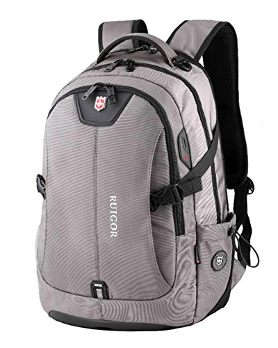 RUIGOR ICON 47 Robuuste trekkingrugzak waterafstotende outdoor rugzak 30 l laptoptas 15,6 inch grijze heren werkrugzak RG6147