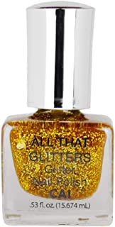 Nail Polish Glitter Shimmer Shine Holographic Cosmetic Grade Glamour, Gold