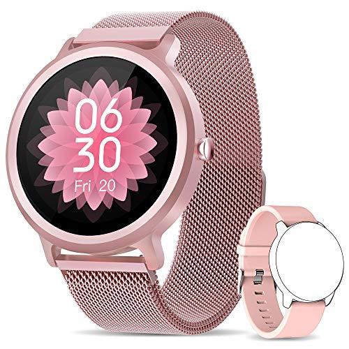 NAIXUES Smartwatch Mujer, Reloj Inteligente IP68 con 24 Modos de Deporte, Pulsómetro,...