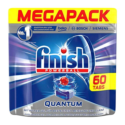 Finish Dishwasher Quantum Powerball Tablets, Regular - 60 Tablets