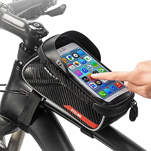 YZX Bolsa Bici, la Pantalla táctil del armazón Delantero de la montaña/Camino de la Bicicleta del teléfono móvil del Bolso, Impermeable al Aire Libre sombreado de Alta Capacidad Ciclismo Silla Bolsa