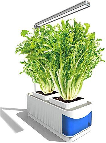 Vogvigo Kit de Cultivo Interior Smart Garden,Sistema de Cultivo Hidropónico,Kit de Jardín de Hierbas para Interiores con Luz de Cultivo LED, Funciones de Luz y Sincronización Inteligentes