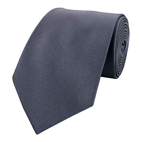 Fabio Farini - einfarbige und elegante Krawatte in verschiedenen Farben und Breiten zur Auswahl Graphit 6cm