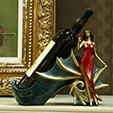 European Beauty Wine Rack Wine Cabinet Decoration Resin Crafts Crafts Ornament Wedding Gifts (Beauty-A)