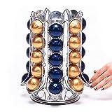 Peak Coffee - Supporto Girevole per 70 Capsule Pods di caffè Nespresso Vertuo