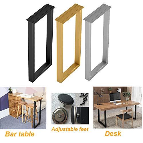 NWHJ 2 Stück Tischbeine Möbelfüße Tischkufen aus Vierkantprofilen 50 * 30 mm, Höhe 70 cm / 100 cm Tischgestell für bartisch, mit Schraube