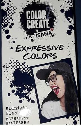 Rossmann Color 2 Create by Isana Expressive Colors Farbe: Midnight Black Permanente Haarfarbe