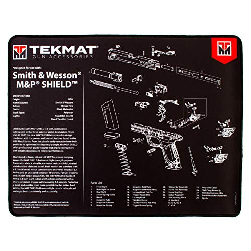 TekMat Ultra 20 - Smith and Wesson MP Shield Gun Cleaning Mat, Black