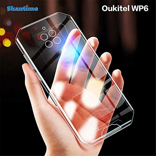 Oukitel WP6 Funda resistente a los arañazos suave TPU Back Cover a prueba de golpes de gel de silicona antihuellas dactilares Funda protectora para Oukitel WP6