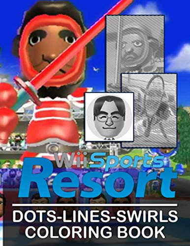 Wii Sports Resort Dots Lines Swirls Coloring Book: Enchanting New Kind Dots Lines Swirls Activity Books For Adult And Kid