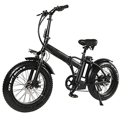 Bicicletta elettrica pieghevole Mountain bike per, 20 pollici con motore 48V rimovibile agli ioni di litio ad alta velocità 500W, 7 Velocità Shifter, 4,0 pollici pneumatici, supporto Cruise Control