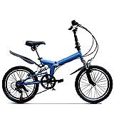 YEDENGPAO Bicicleta Plegable De 16 Pulgadas De Fibra De Carbono,Mini City Plegable Bicicletas con Frenos De Disco 9 Velocidad Groupset,7 Bicicletas De La Velocidad De La Bici Plegable Mountain City