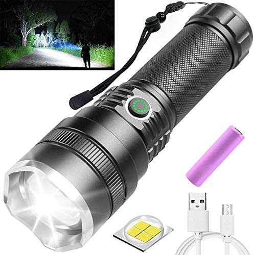 Rechargeable LED Flashlights High Lumens 10000 Lumens Bright Tactical Flashlights with 21700 product image