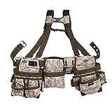 Bucket Boss 3 Bag Tool Bag Set with Suspenders in Digital Camo, 55185-DIGC