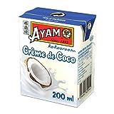 AYAM Crème de Coco | Goût Authentique | Noix de coco Fraîches | Haute Qualité | Alimentation Saine | Lait Végétal | Sans Lactose | Sans Gluten | Sans Conservateurs - 200ml - Lot de 6