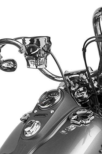 Kruzer Kaddy KK1075 Chrome Skull Bar Mount,1 Pack