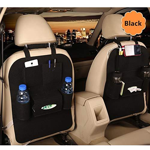 MJNDHB Auto-Rücksitz Koffer Elastic Felt Aufbewahrungstasche 5 Taschen Organizer Hanging Auto Reisehalter Anti-Tritt-Autozubehör