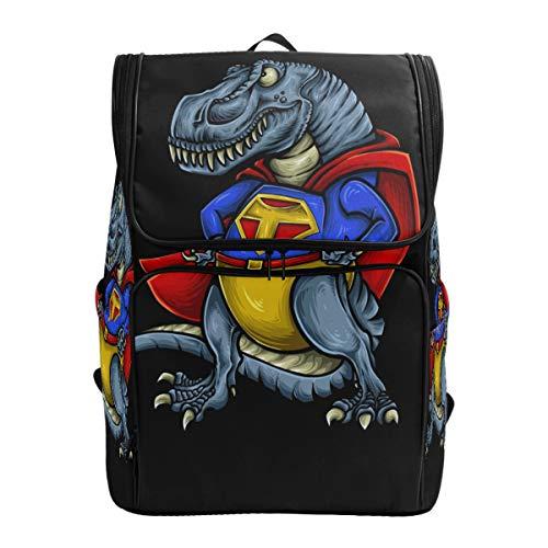 ZZKKO Animal Dinosaur Superman Backpacks College Book Laptop Bag Camping Hiking Travel Daypack