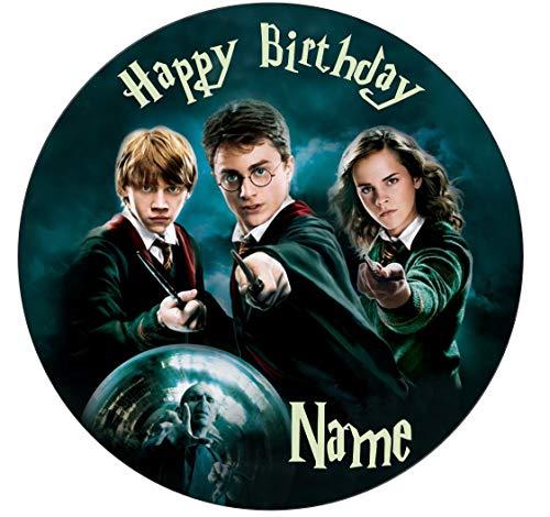Glaçage comestible personnalisable pour gâteau, motif Harry Potter, 4tailles différentes, Round