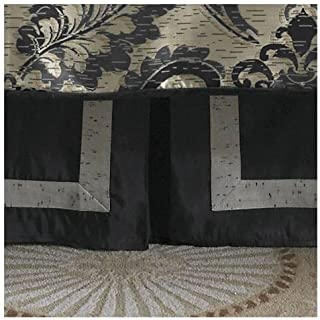 Waterford Linens Ormonde Black/Gold Queen Bed Skirt