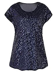 Navy Loose Bat Sleeve Party Tunic Tops