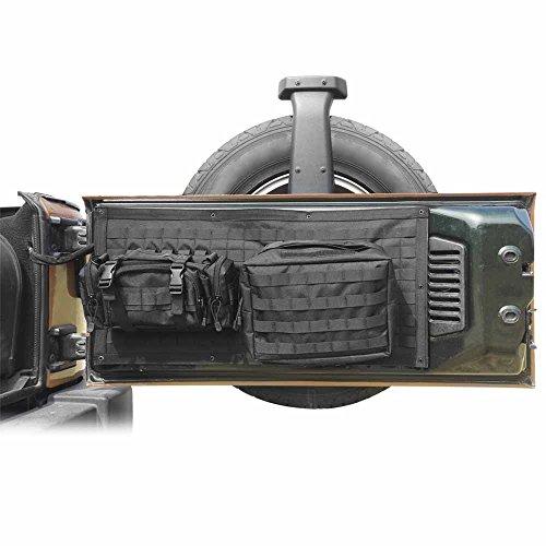 Bosmutus Tailgate Bag Case Cover for 2007-2017 Jeep Wrangler JK Tool Organizer Pockets