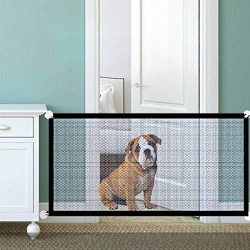 Tür Absperrgitter Tragbare Folding Breathable Ineinander greifen Hunde Tor Pet Trennung Schutz Isoliert Zaun Hunde Schutzzaun (Color : Black, Size : 110 * 72cm)