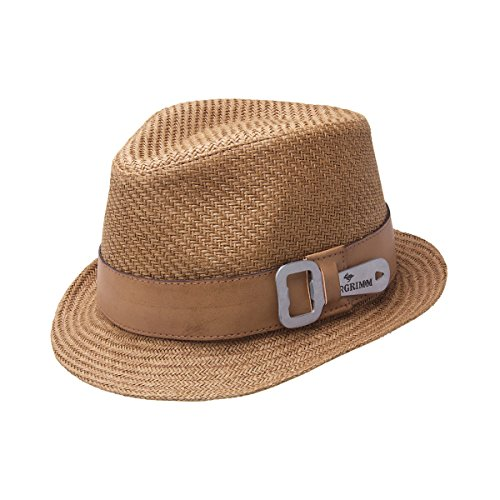 Peter Grimm Luke Toyo Straw Fedora Bottle Opener Hat - Brown