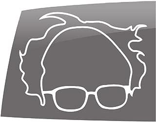 Window Swag 2 Pack Bernie Outline - Solid White -Decal- Political - Bernie Sanders - Vinyl Sticker