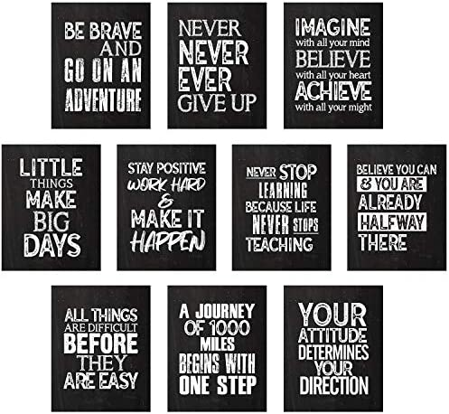 10 Pieces Inspirational Wall Posters Motivational Quote Posters Positive Affirmation Art Posters product image