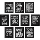 10 Carteles de Pared Inspiradores Pósters con Cita Motivacional Pósters de Arte de Afirmación Positiva con 80 Puntos de Pegamento para Decoraciones de Pared Oficina Dormitorio Aula, 11 x 14 Pulgadas