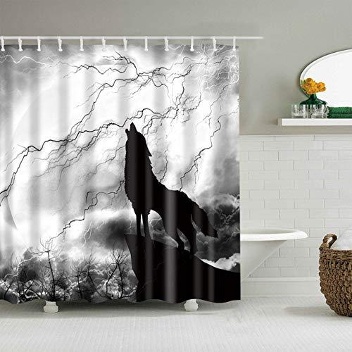 xkjymx Cortinas de Ducha Cortina de Ducha de impresión Cortina de Ducha de poliéster Resistente al Agua Ducha de Estampado Animal bajo el Agua