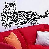 Enorme Guepardo Leopardo Jaguar Gato Pared Pared Vinilo Etiqueta