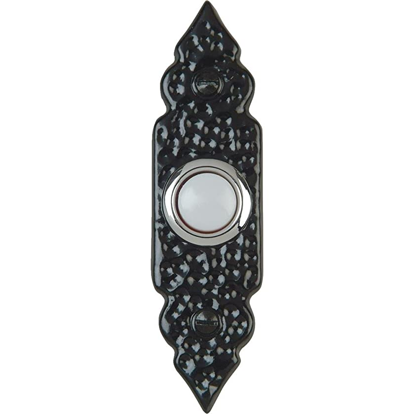 IQ America Wired Lighted Doorbell Push Button - Antique Black