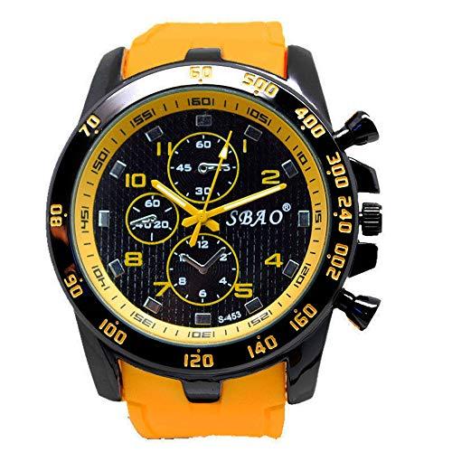 Männer Armbanduhr Mode Beiläufig Uhren Rostfreier Stahl Sport Analoger Quarz Uhr Groveerble