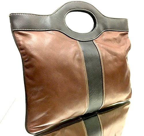 Sophia Visconti Soft Leather Tote Handbag Multifunctional Clutch Bag