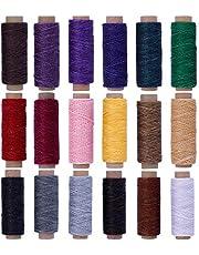 蝋引き糸 ロウ引き糸 ワックスコード レザークラフト 糸 ろう引き糸 蝋引き紐